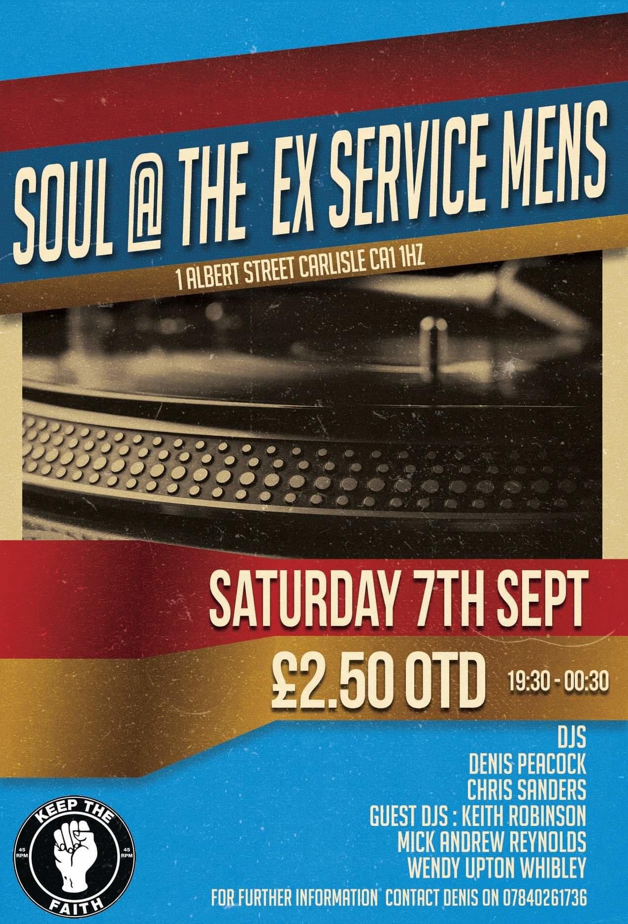 Soulcarlisle Exservice Mens Club flyer
