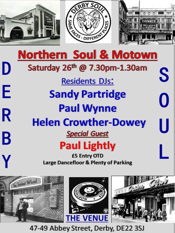 Derby Soul  Guests  The Venue flyer