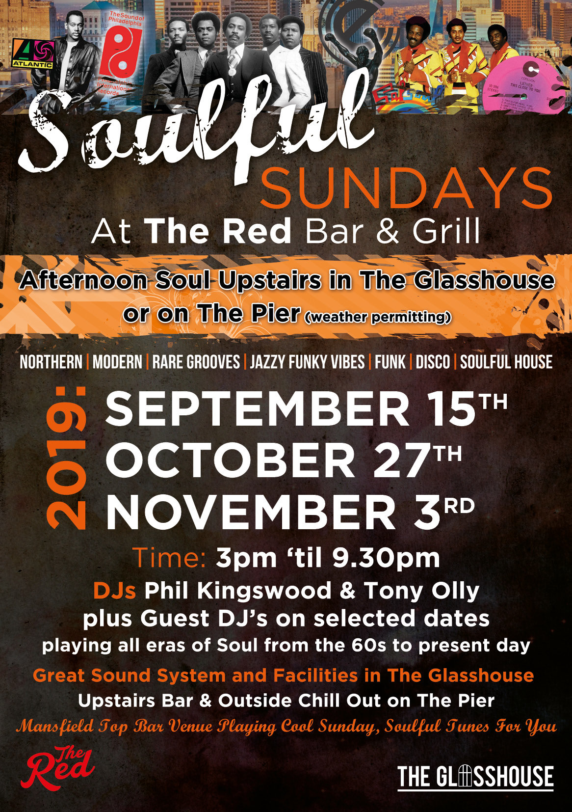 Red Bar Sunday Soul flyer