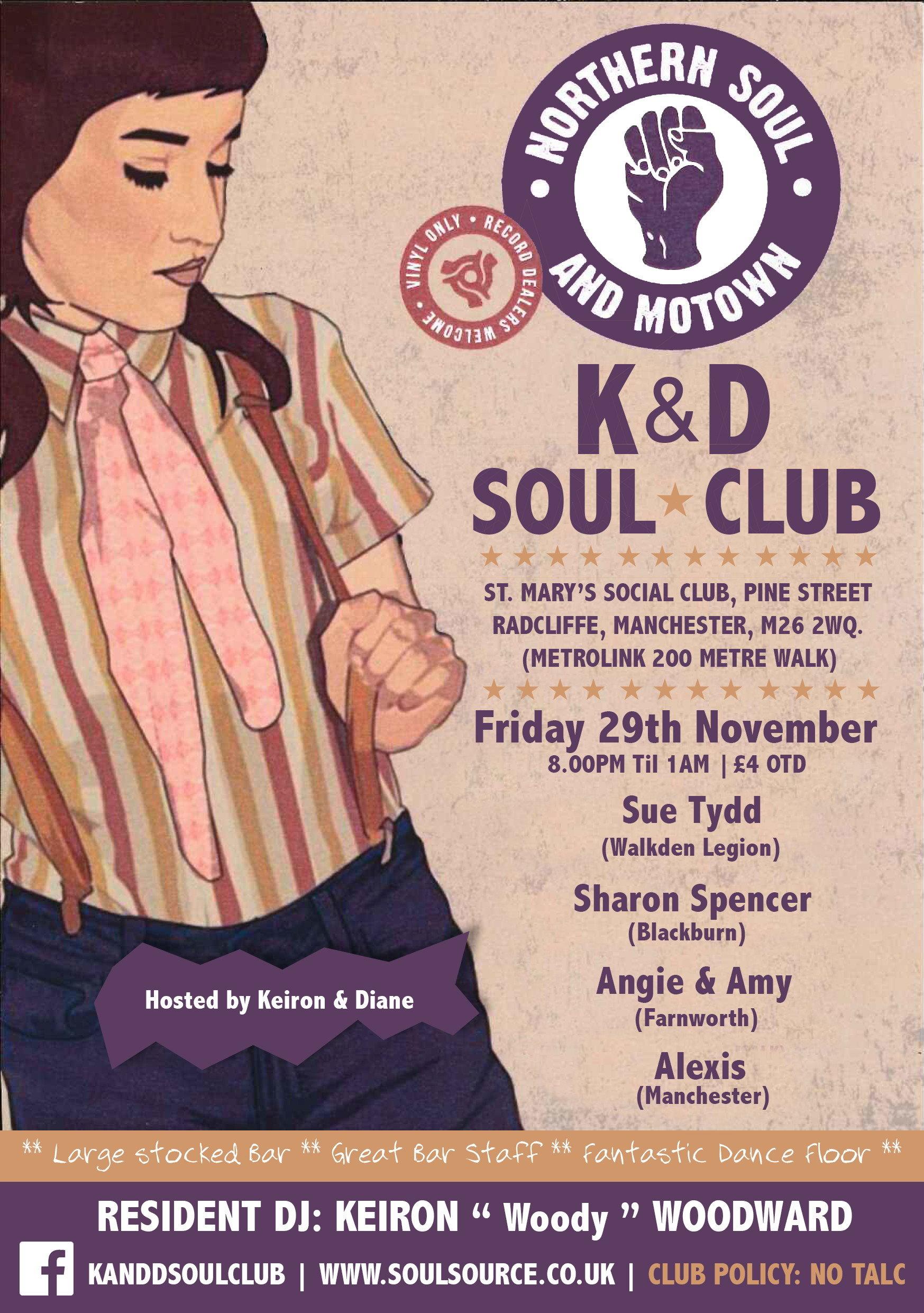 K  D Soul Club flyer