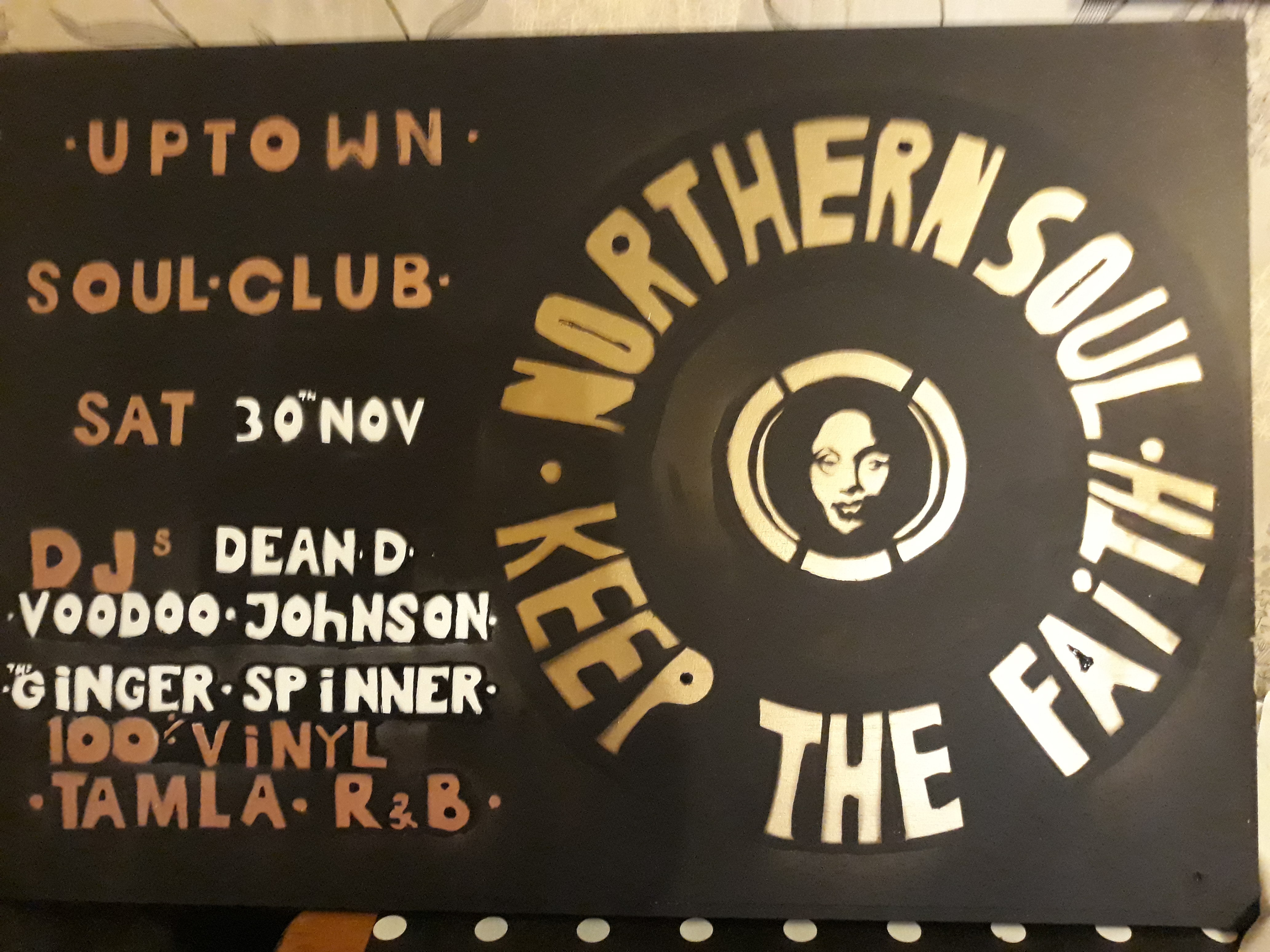 Uptown Soul Northern Soul Night flyer