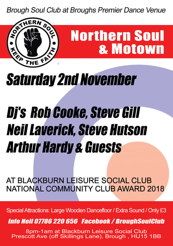 Brough Soul Club flyer