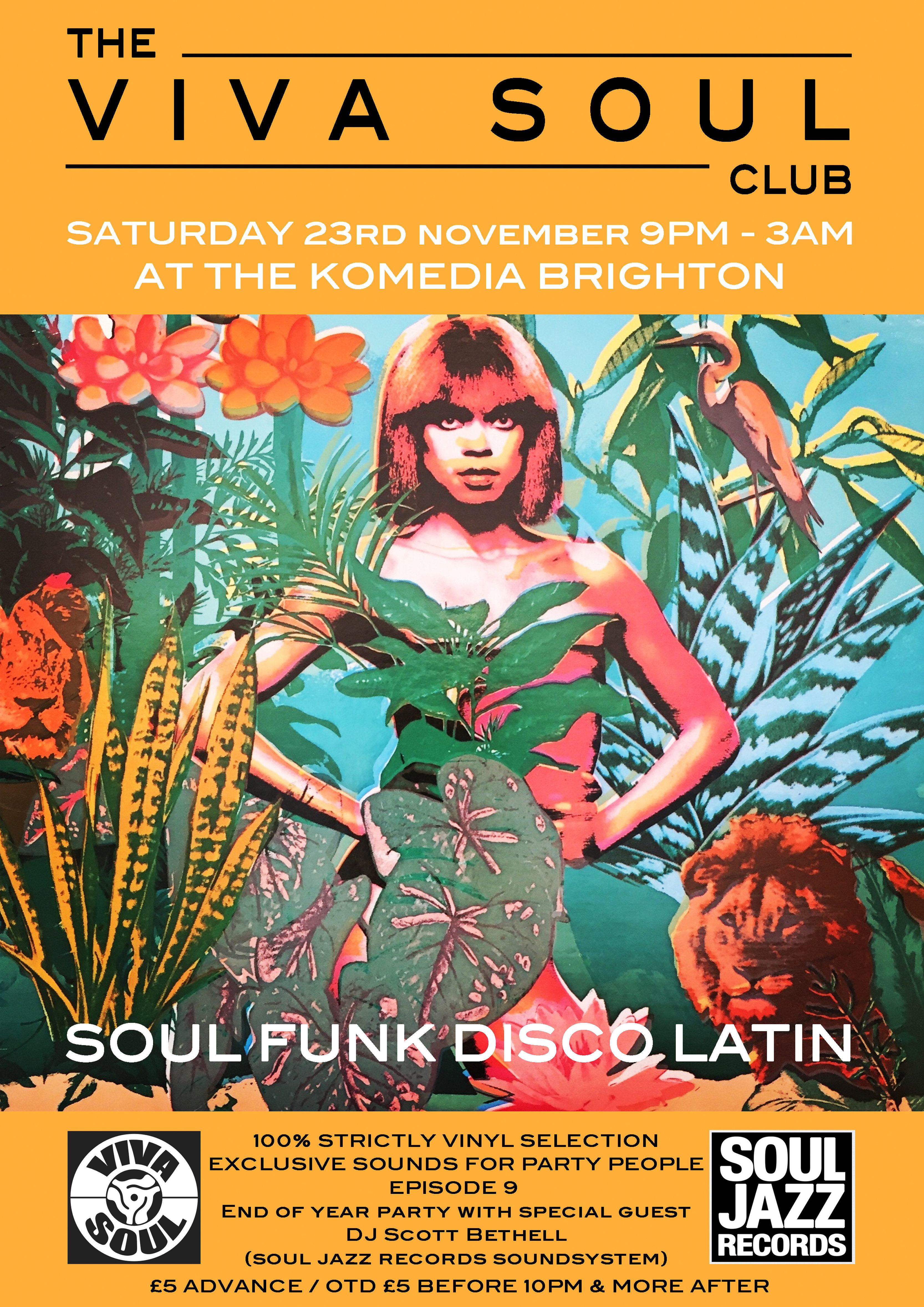 The Viva Soul Club  End Of Year Disco flyer
