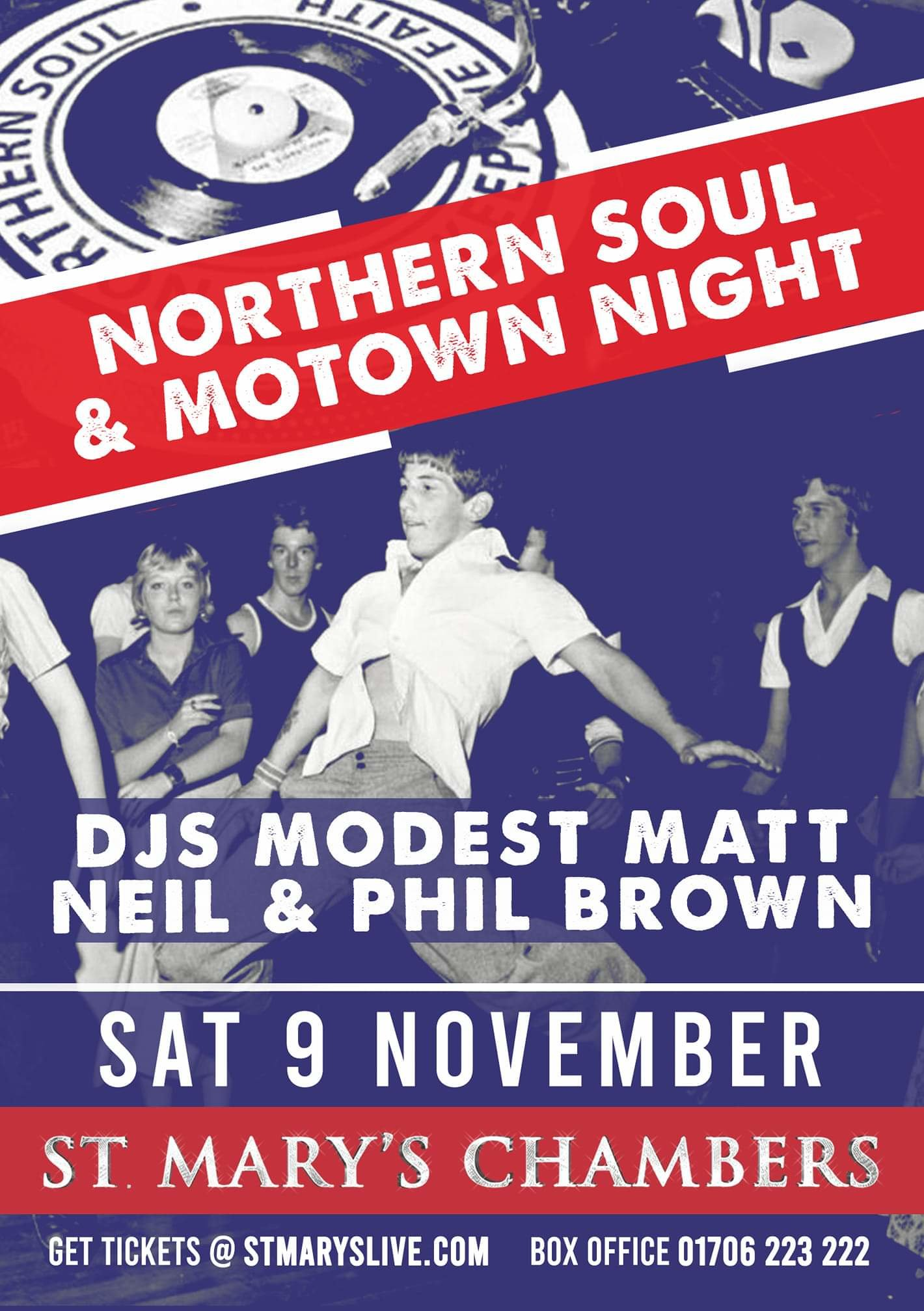 Northern Soul  Motown  New Night In A Fantastic Venue flyer