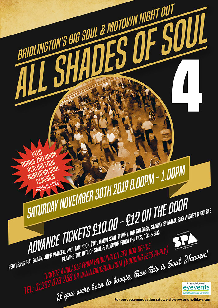 Bridlington Spa Motown And Soul Big Night Out flyer