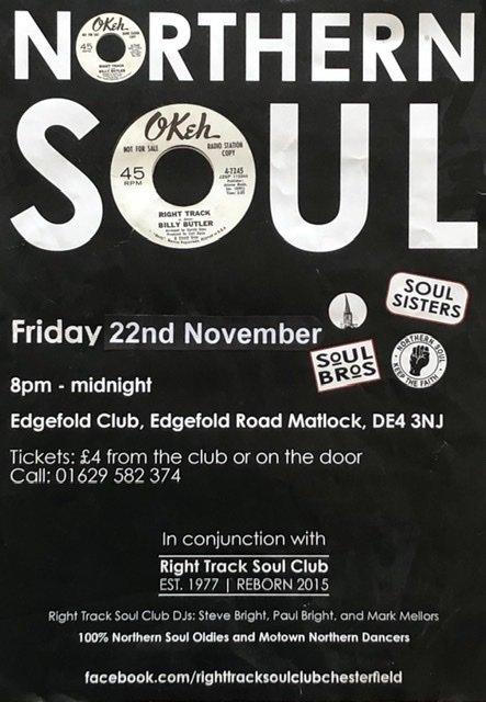 Edgefold Club  Matlock flyer