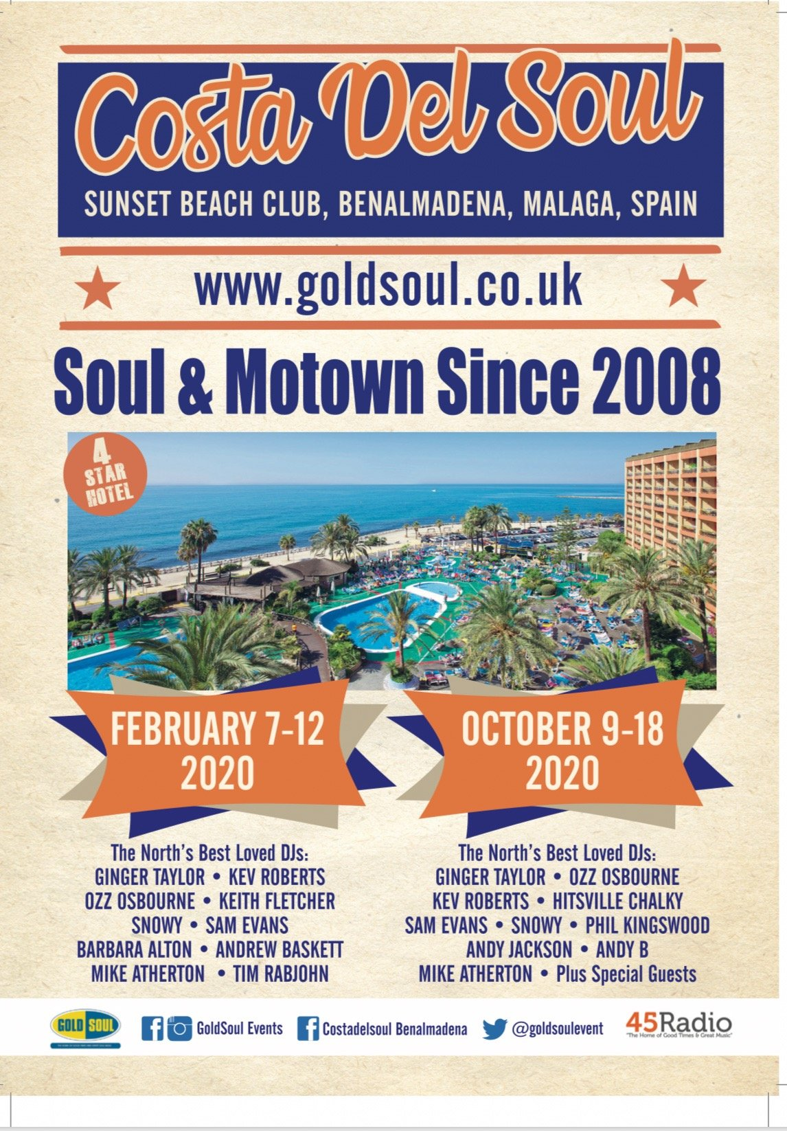 Costa Del Soul Benalmadena Spain flyer