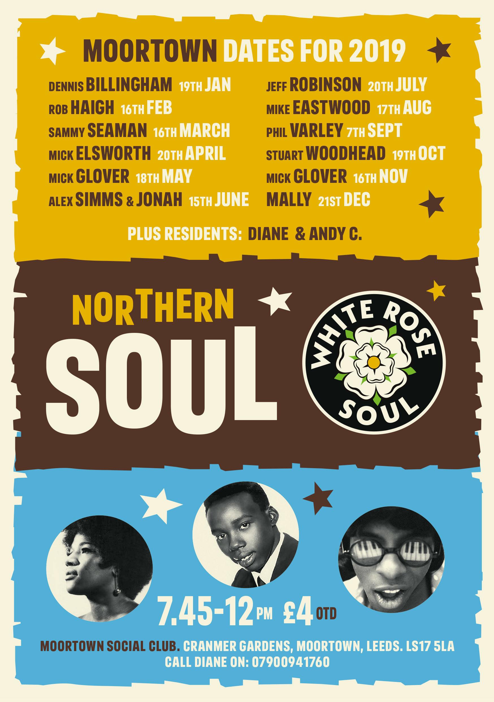 Moortown Soul Night flyer