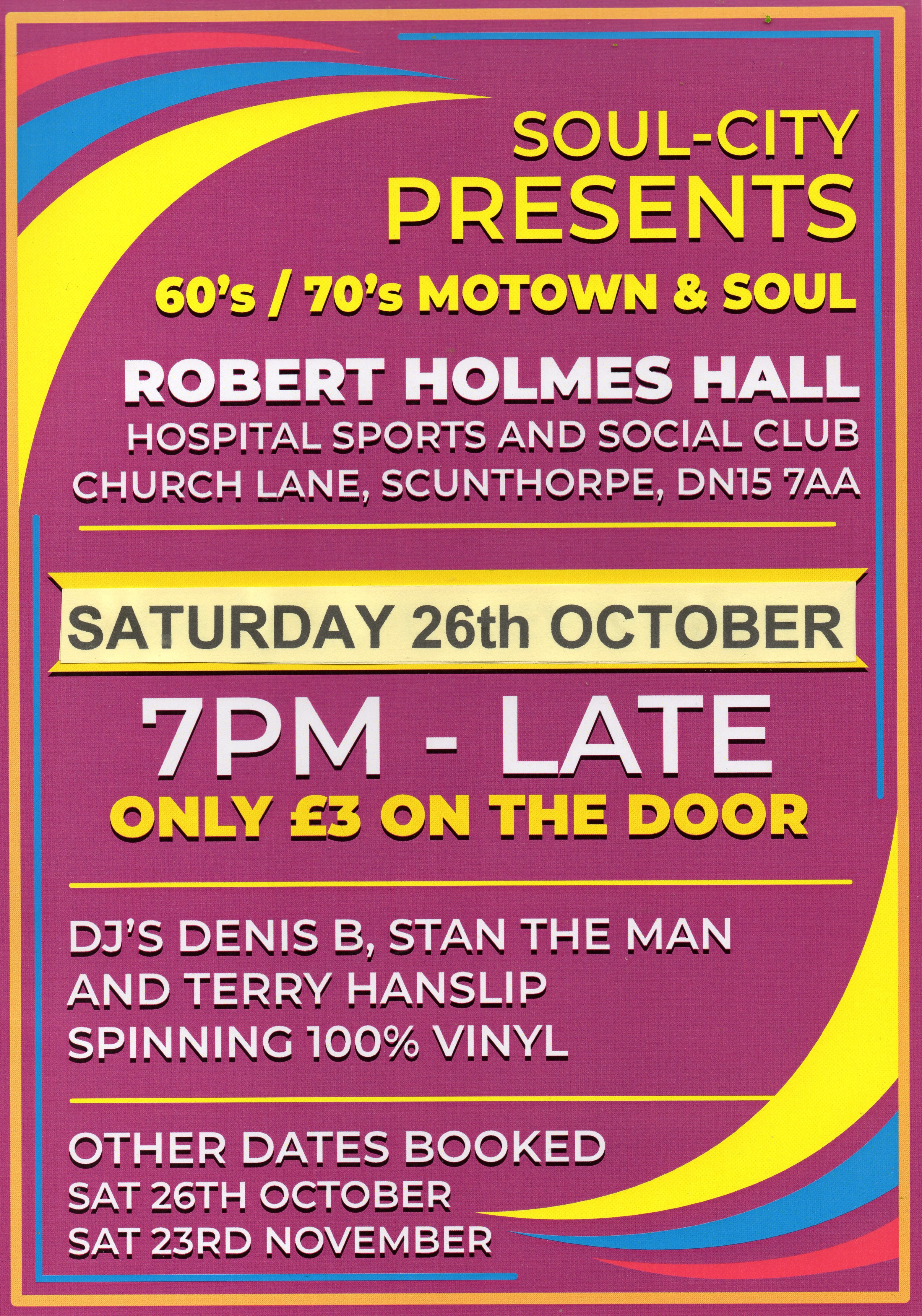 Scunthorpe Robert Holmes Hall At Scunthorpe Hospital flyer
