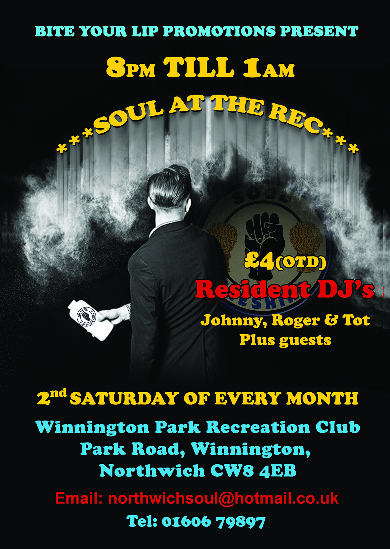 Soul At The Rec flyer