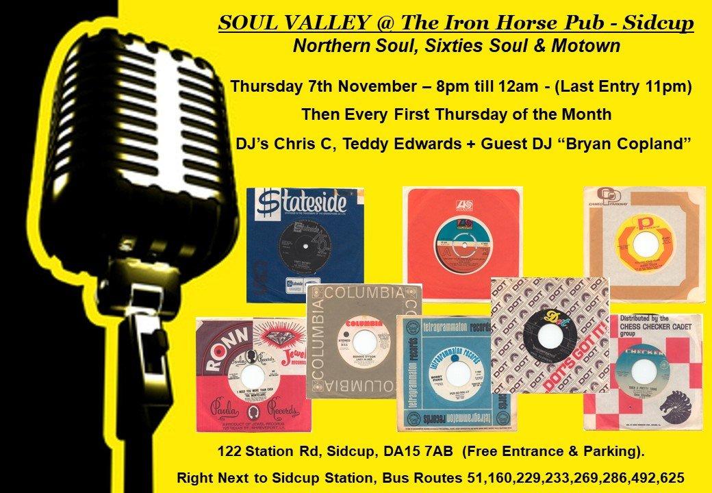 Soul Valley  Iron Horse Pub flyer