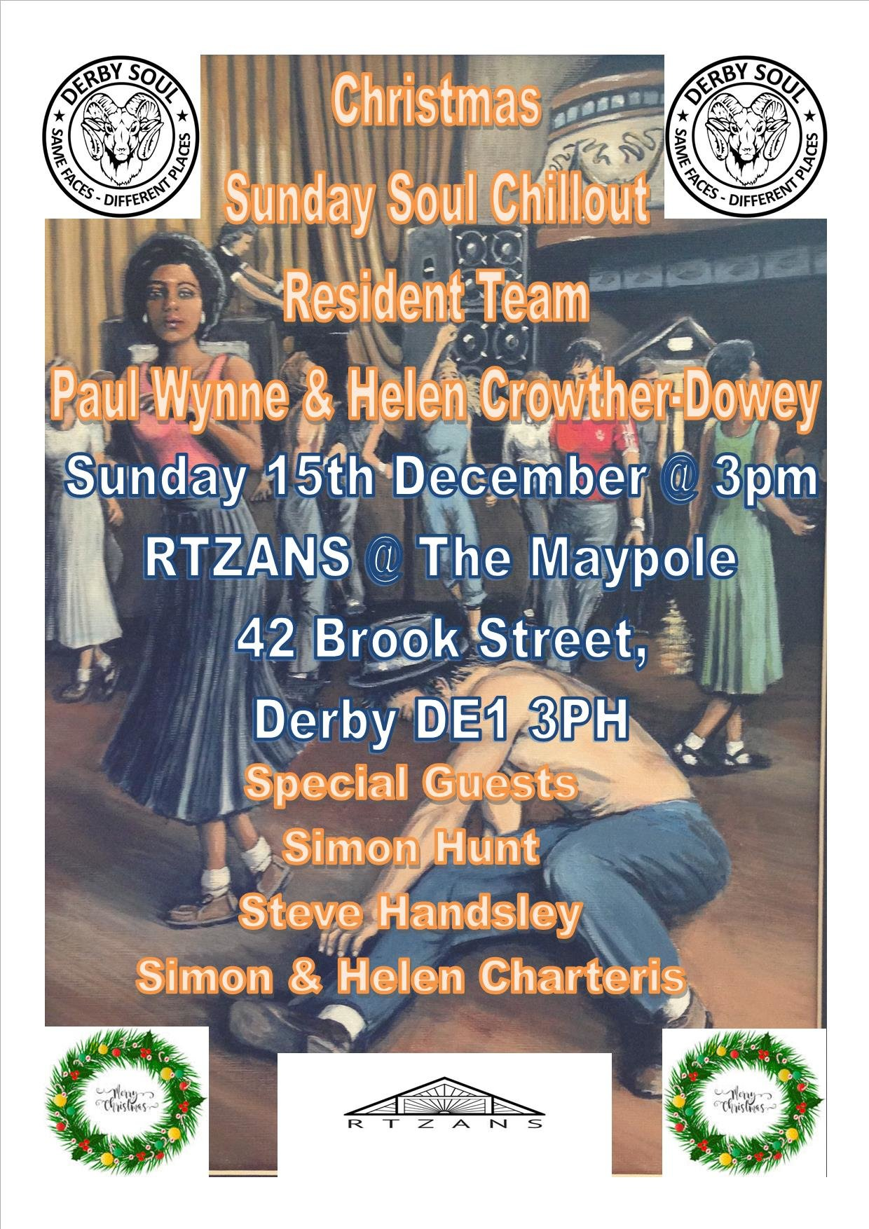 Sunday Christmas Chillout flyer