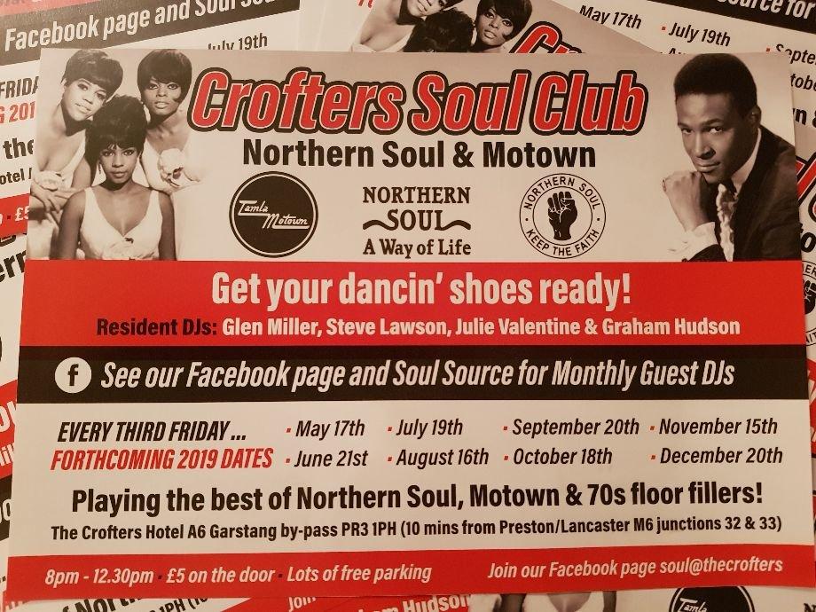 Crofters Soul Club Garstang Preston flyer