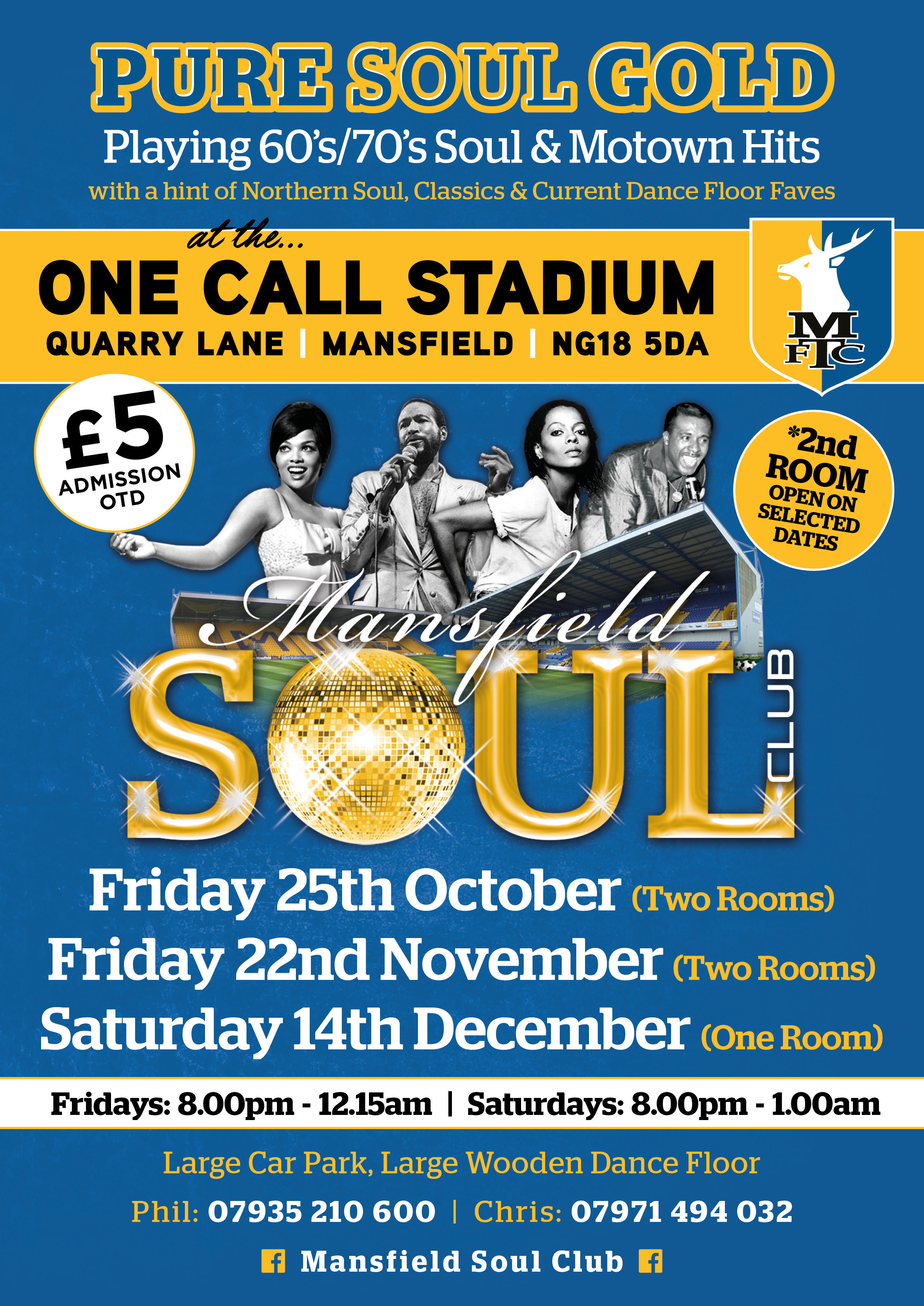 Mansfield Soul At The One Call flyer