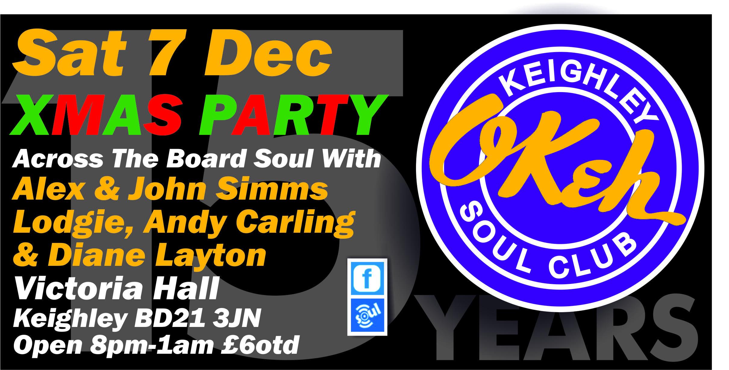 Keighley Okeh Soul Club Xmas Party flyer