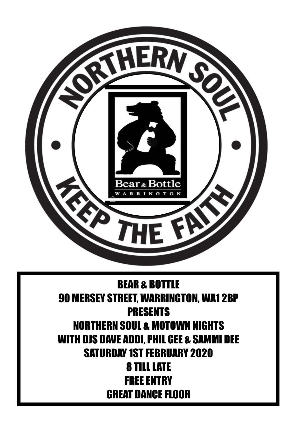 Bear Bottle  Cancelled Pub Gave No Explination Sorry flyer