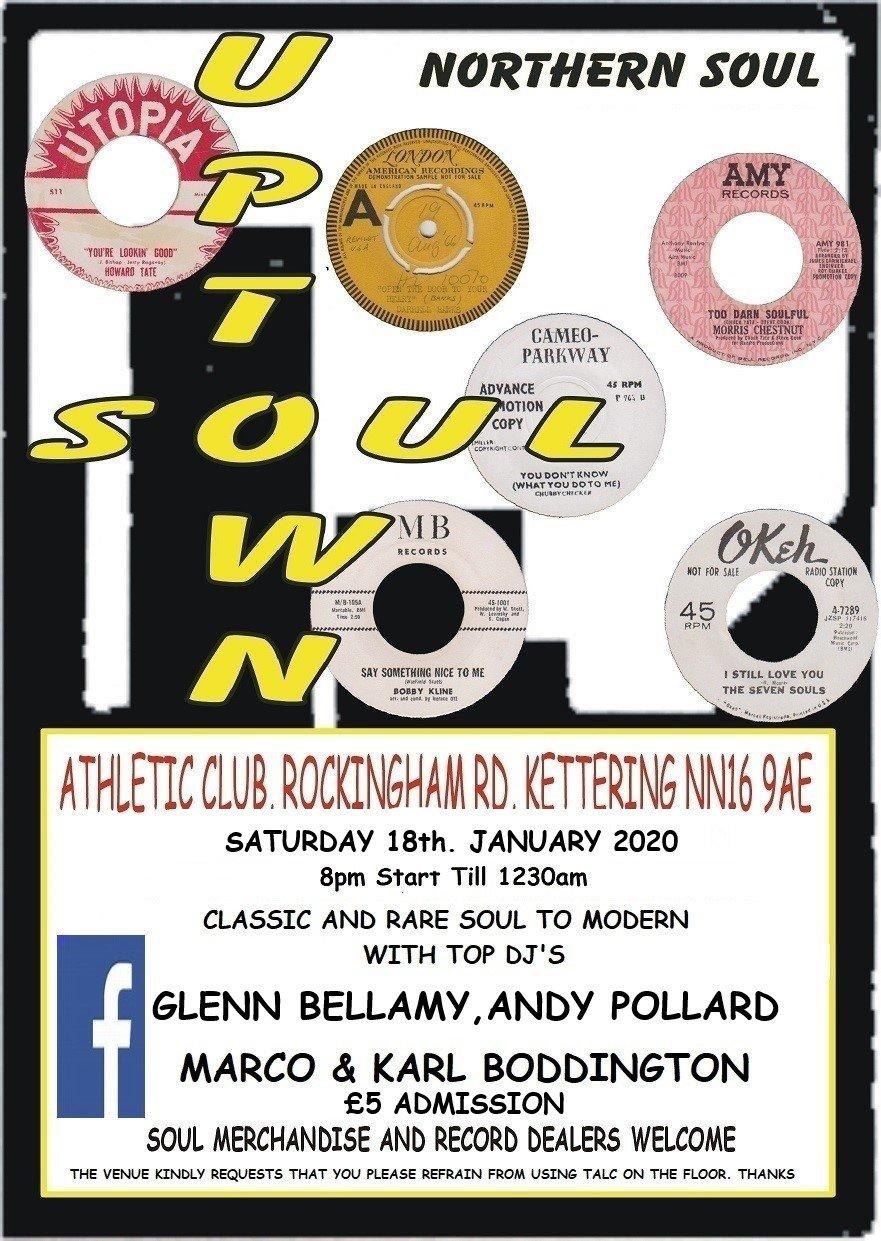 Kettering Athletic Soul Night flyer