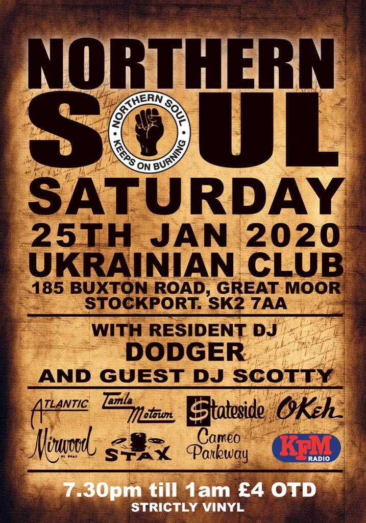 Northern Soul The Ukrainian Club Stockport flyer