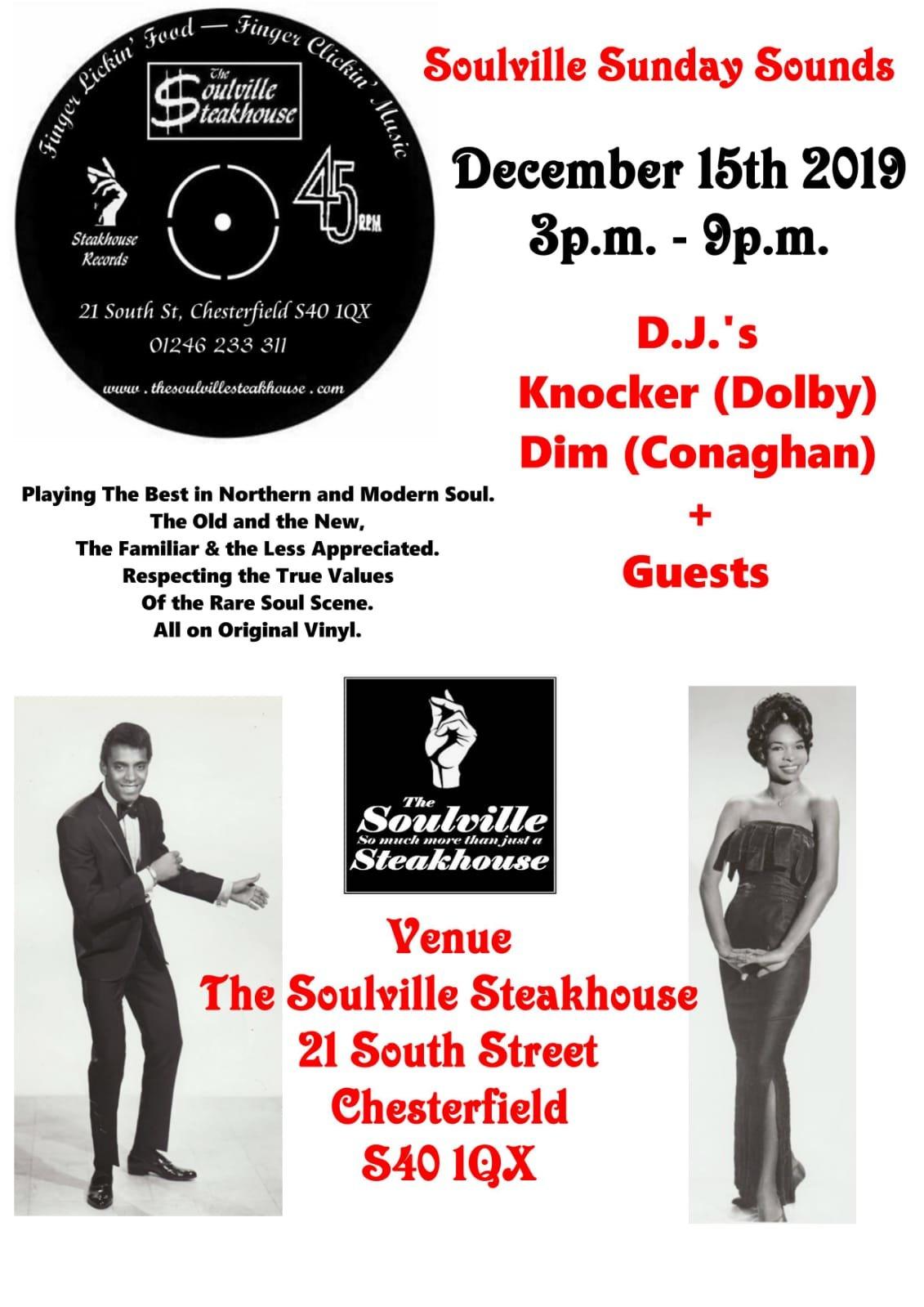 Soulville Sunday Sounds flyer