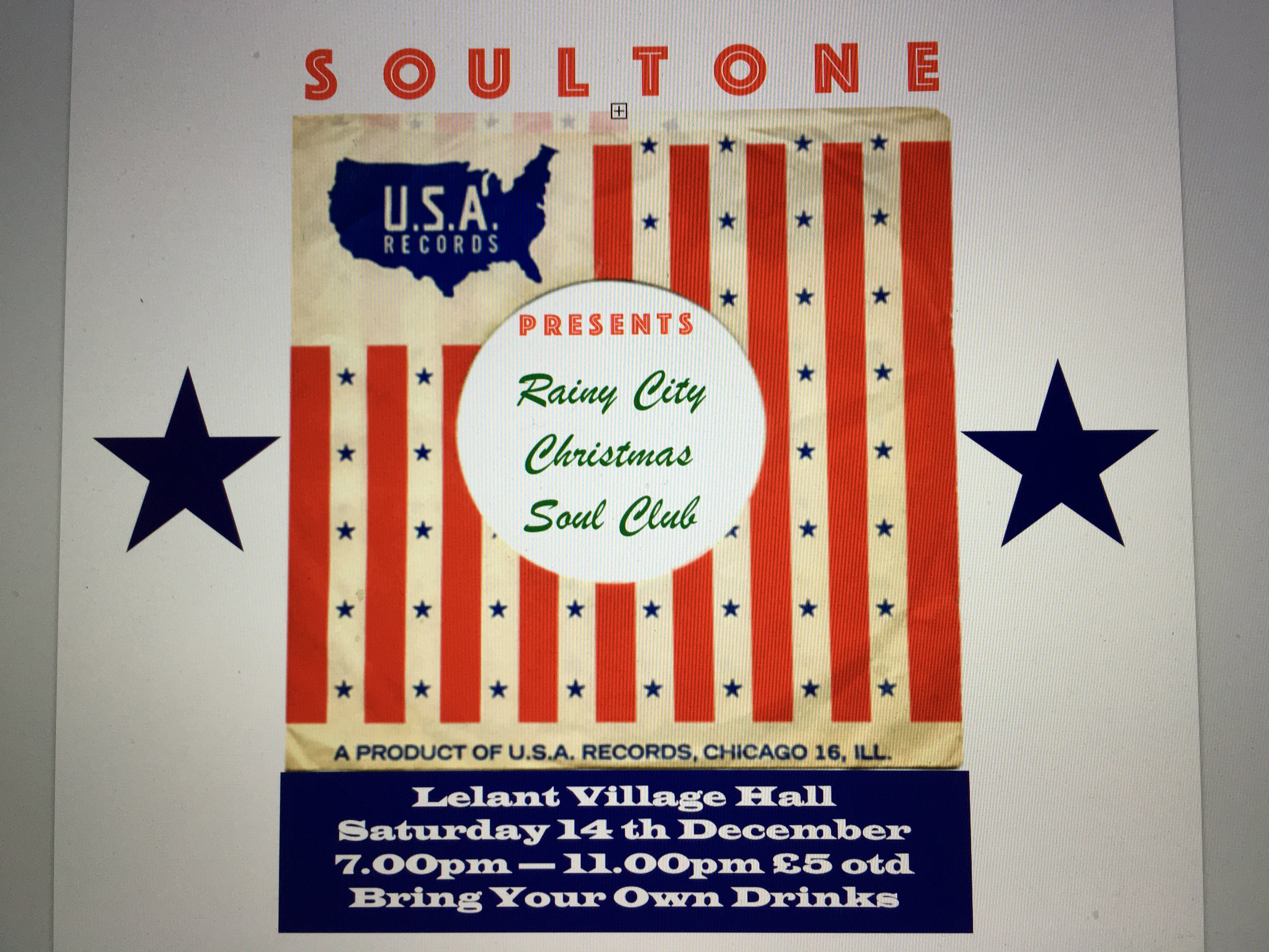 Rainy City Christmas Soul Club flyer