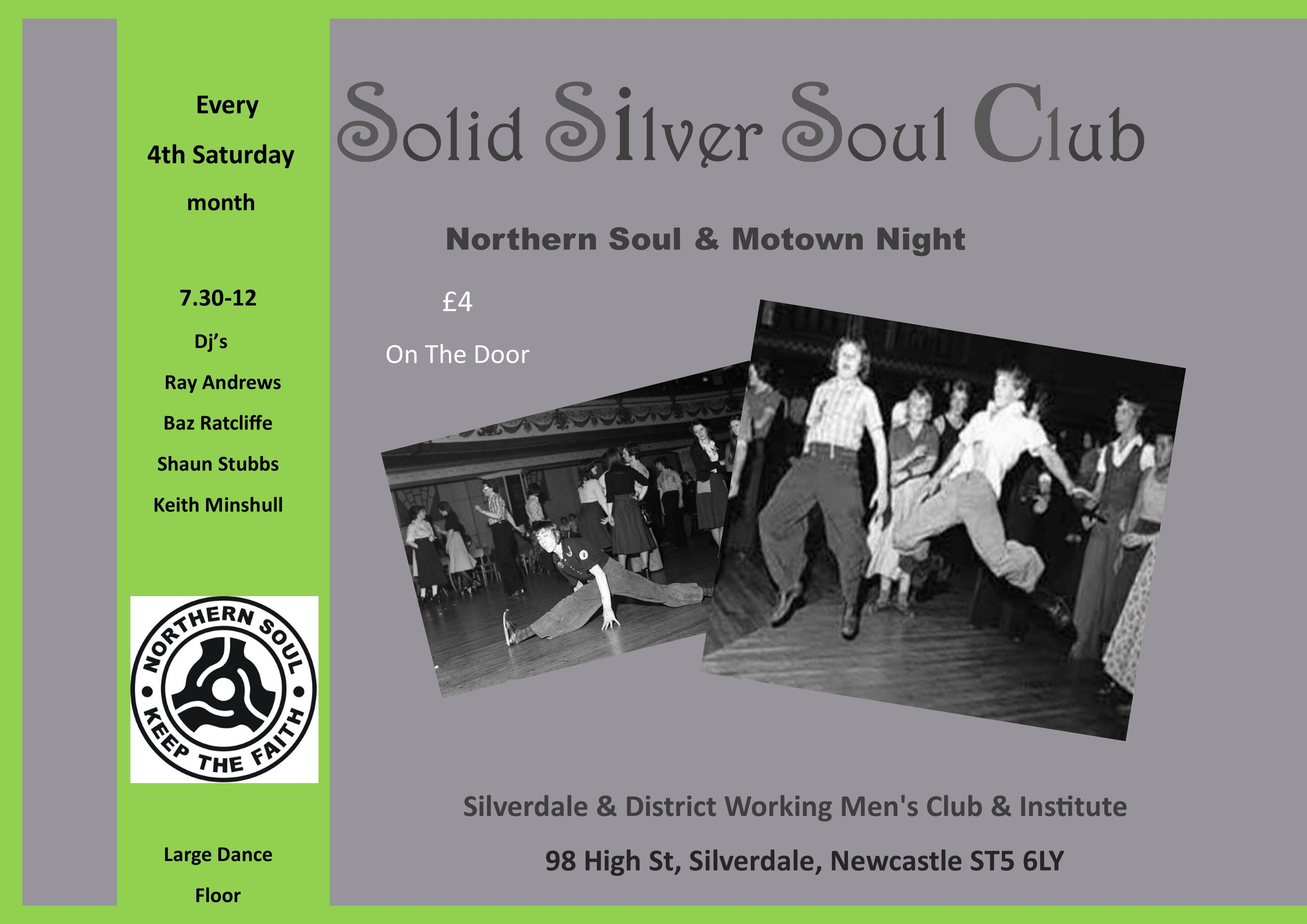 Solid Silver Soul Club Newcastle Staffs flyer