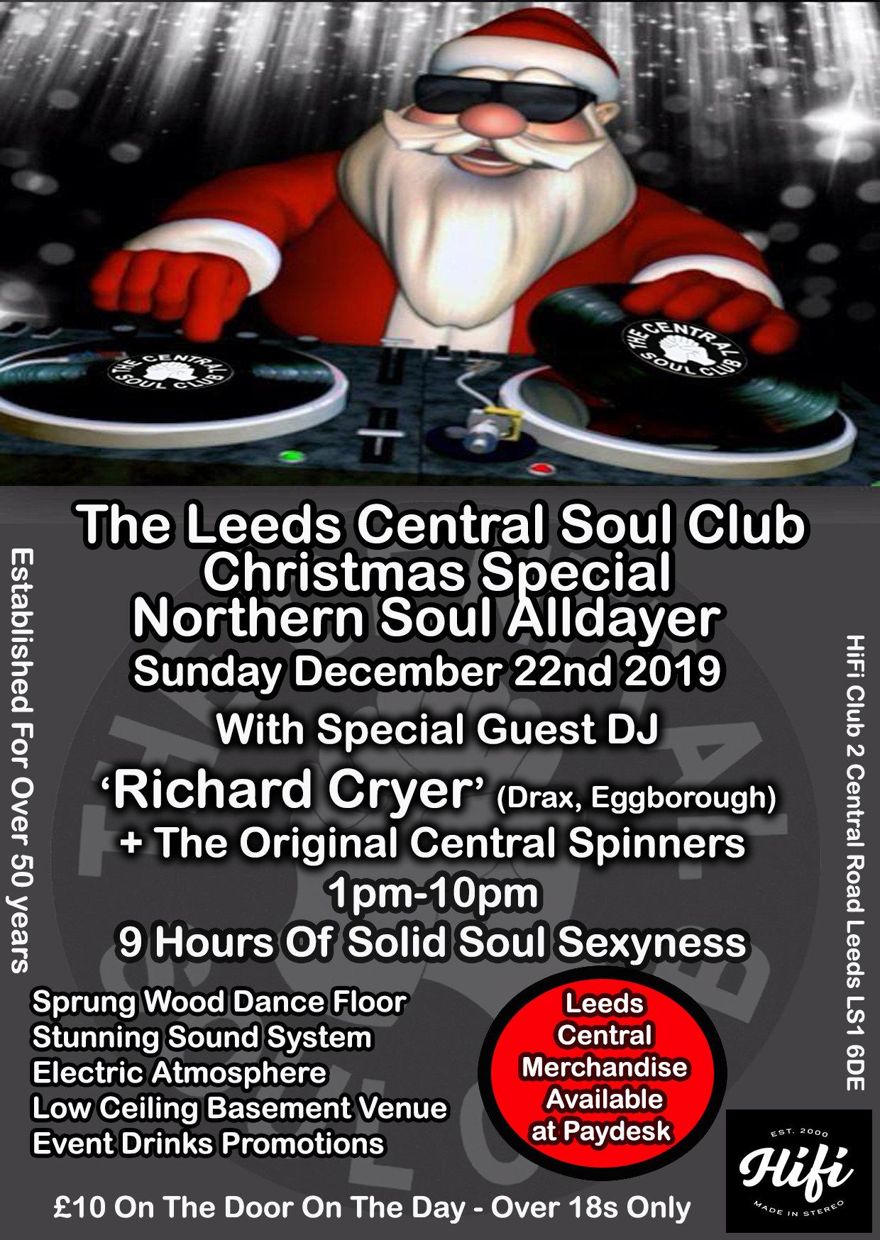 Leeds Central Soul Club Christmas Alldayer flyer