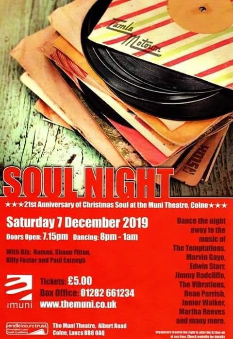 Soul  The Colne Munixmas Special flyer