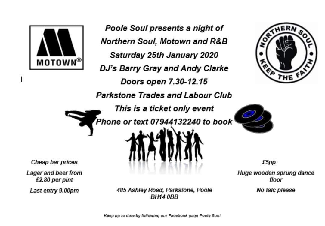 Northern Soul Motown And R  B Nightpoole flyer