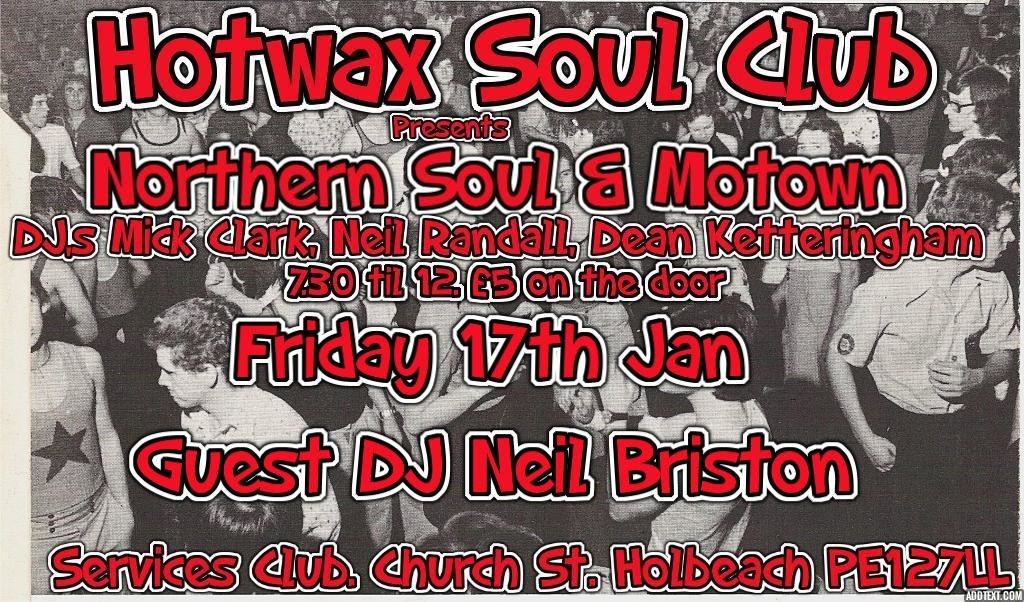 Hot Wax Soul Club flyer