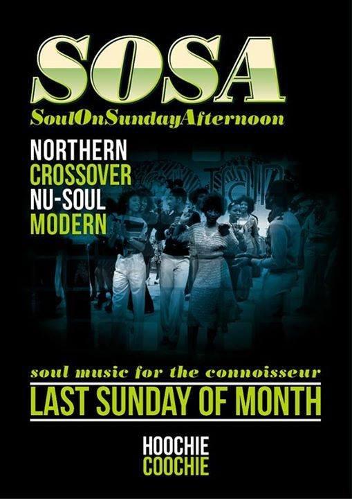 Sosa  Soul On Sunday Afternoon flyer