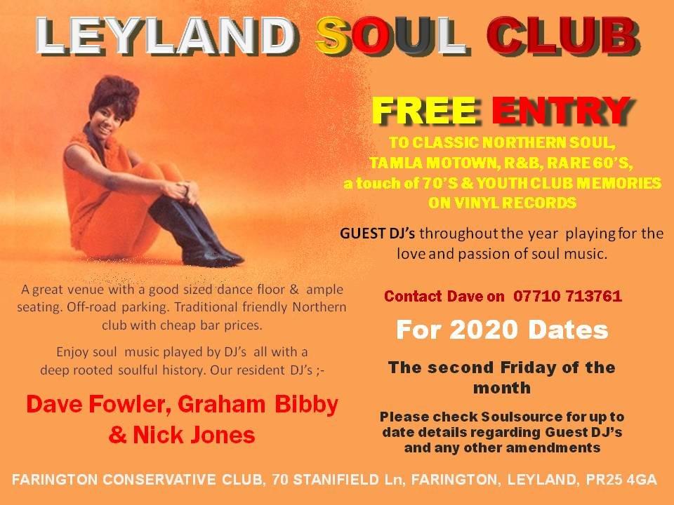 Leyland Soul Club flyer