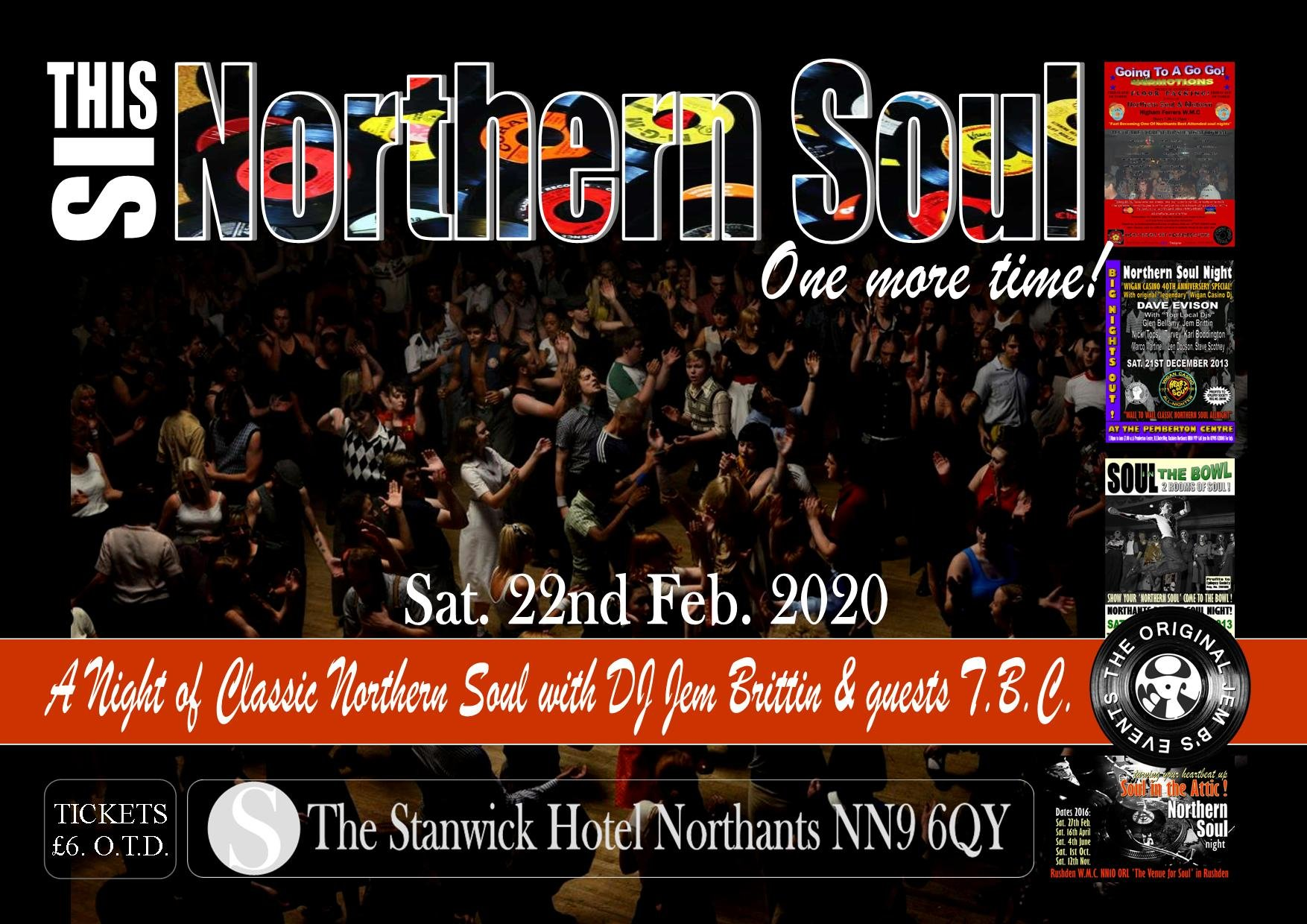 Classic Northern Soul At The Stanwick Hotel flyer