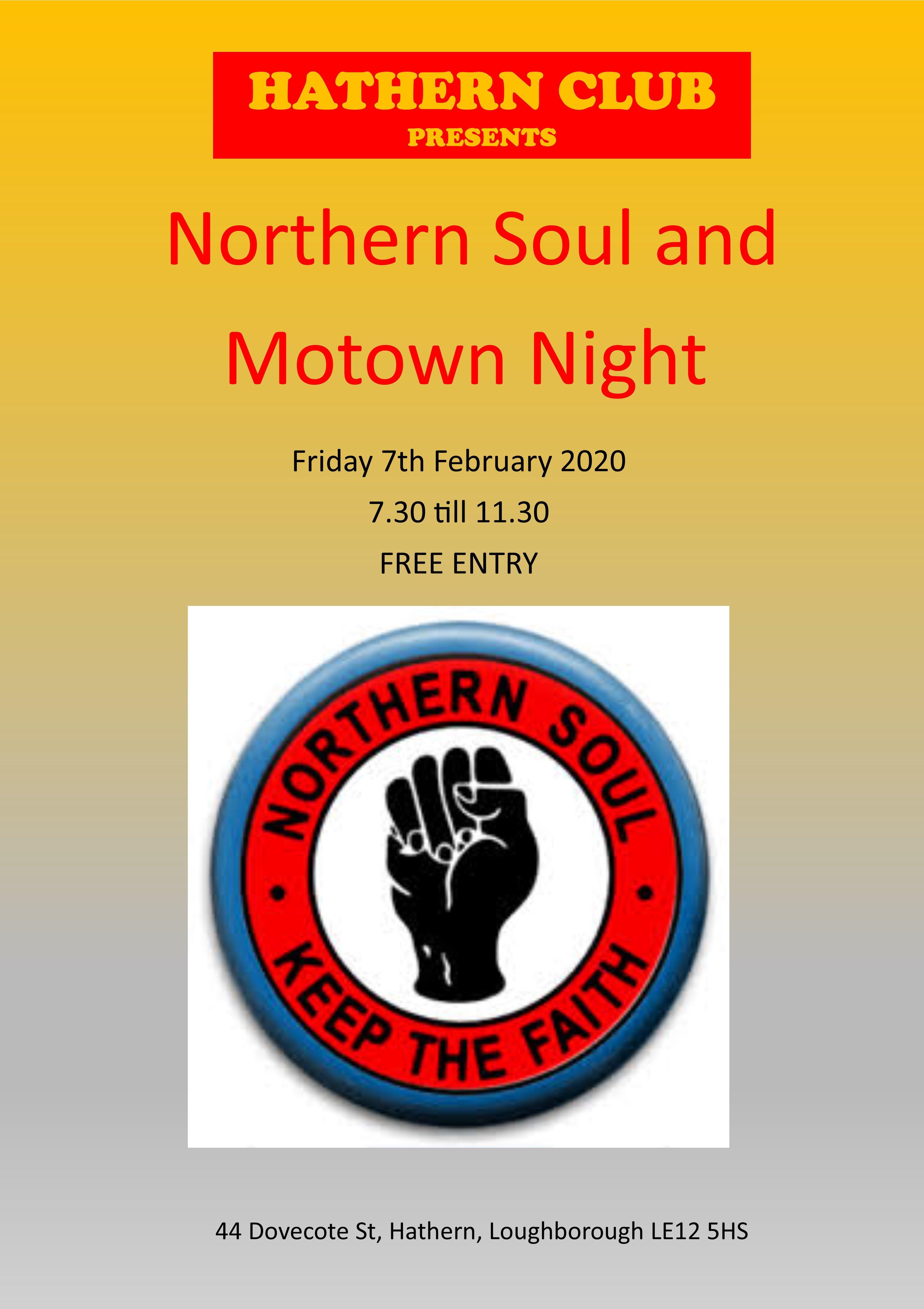 Soul Night flyer