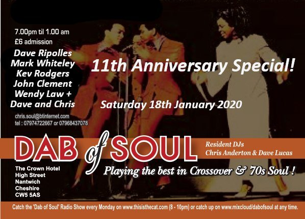 Dab Of Soul 11th Anniversary Special flyer