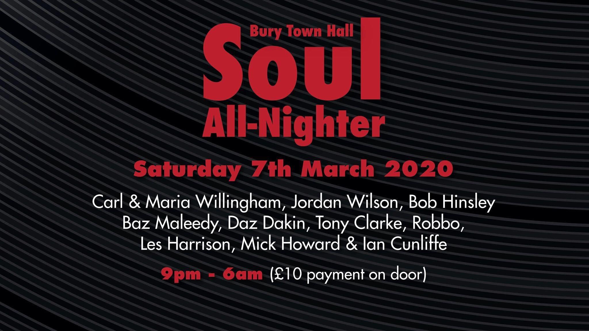 Bury Allnighter  Bury Town Hall flyer