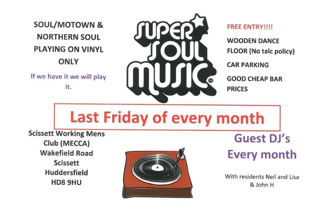Scissett Mecca Soul Music Night flyer