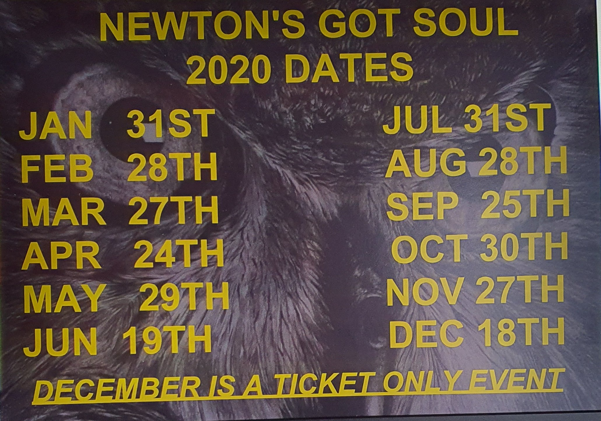 Newtons Got Soul Monthly Soul Night flyer