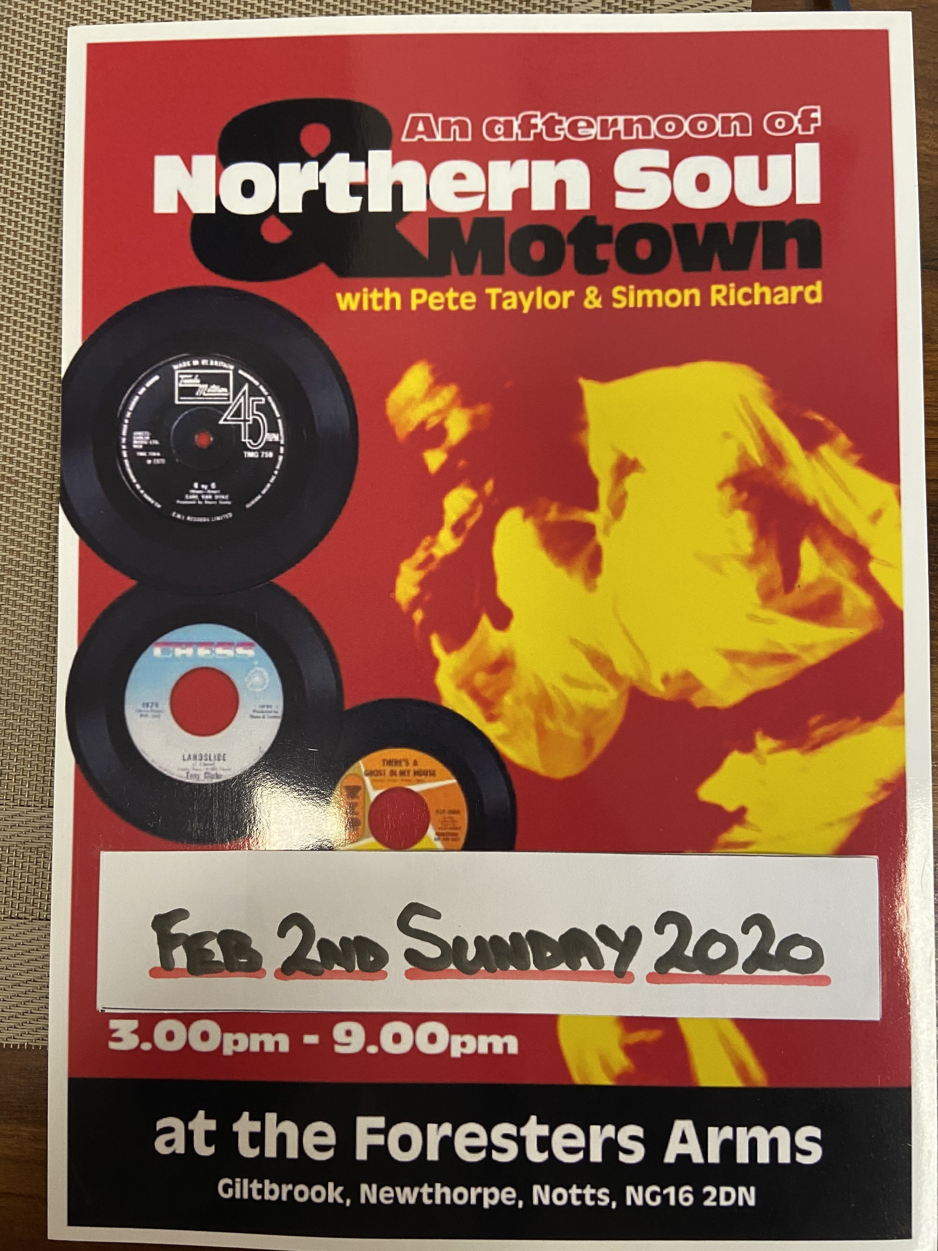 Foresters Northern Soul Newthorpe Notts flyer