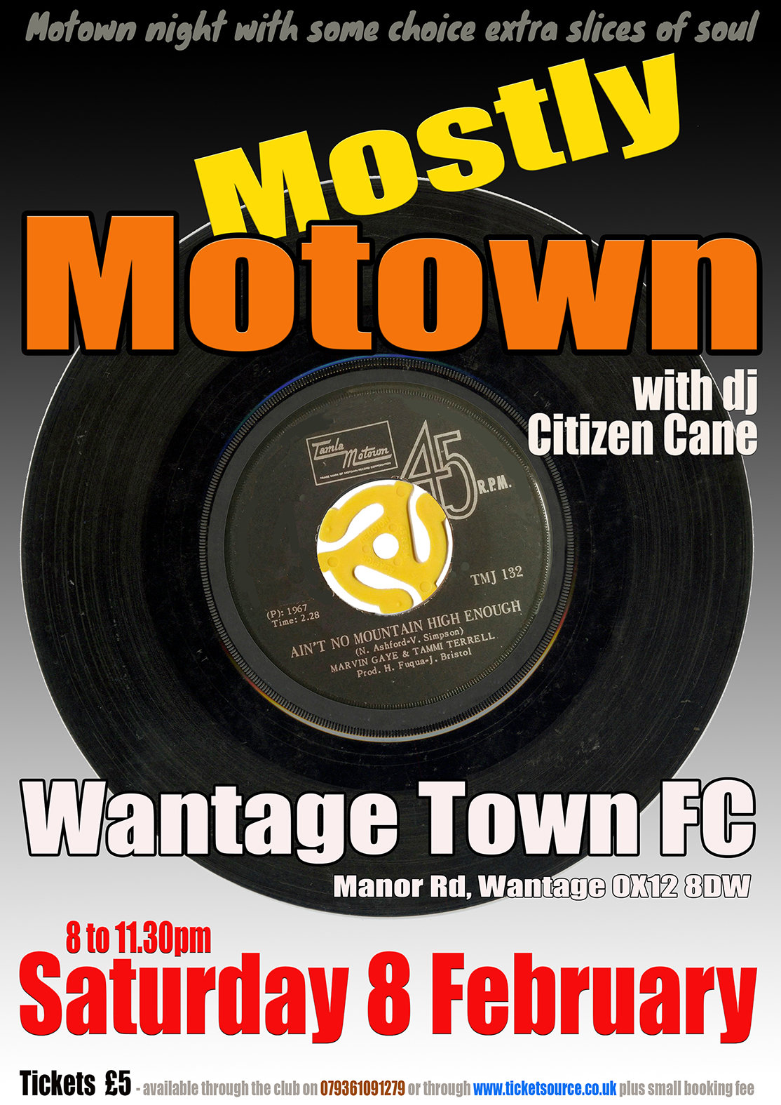 Mostly Motown At The Freds flyer