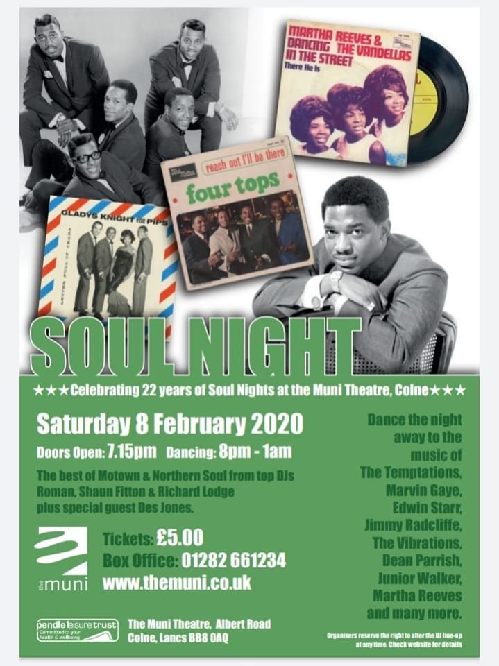 Soul  The Colne Muniin Its 22nd Year flyer