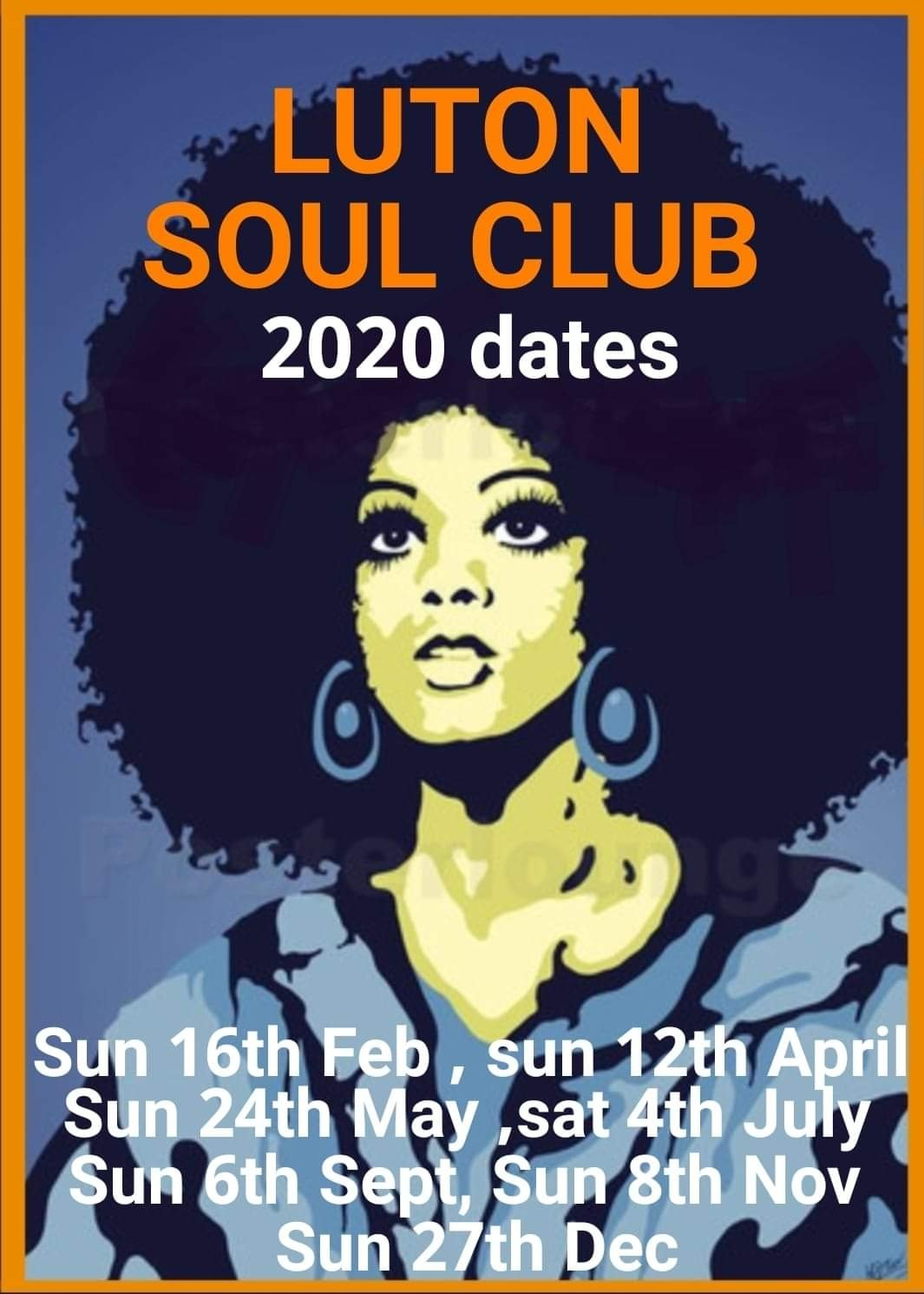 Luton Soul Club Easter Sunday Soul Social flyer