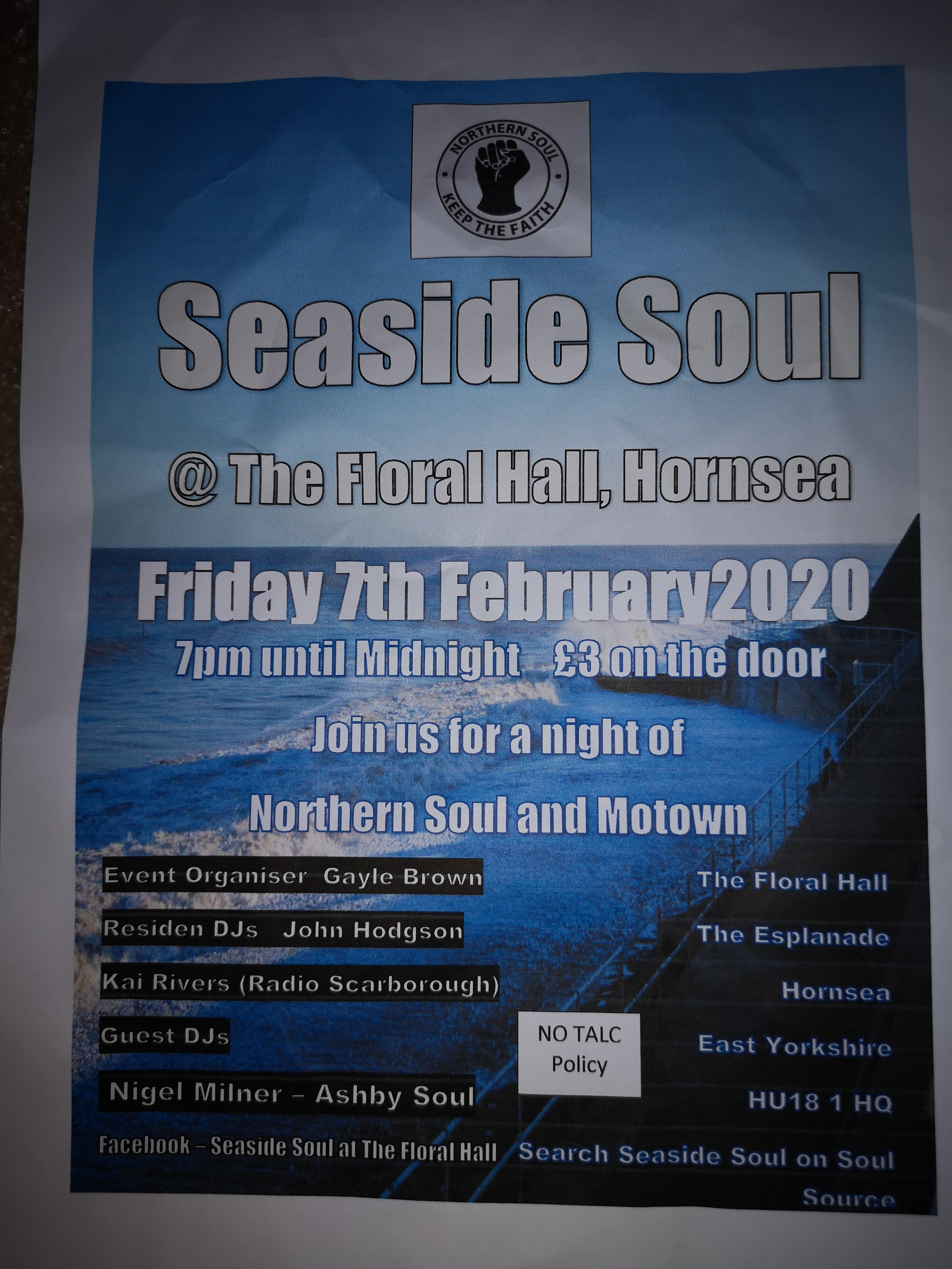 Seaside Soul Hornsea flyer