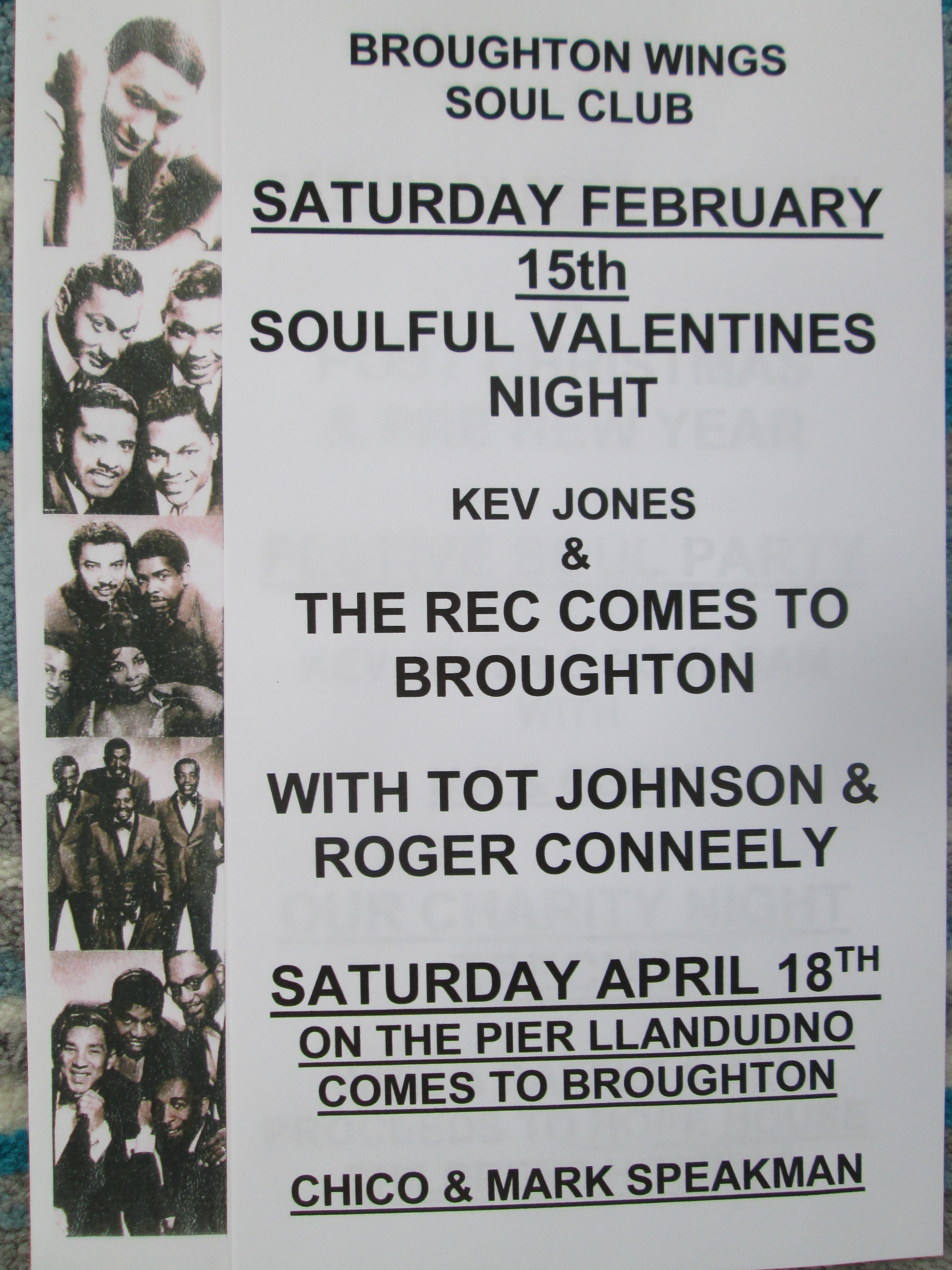 Soulful Valentines Night At Broughton Wings flyer