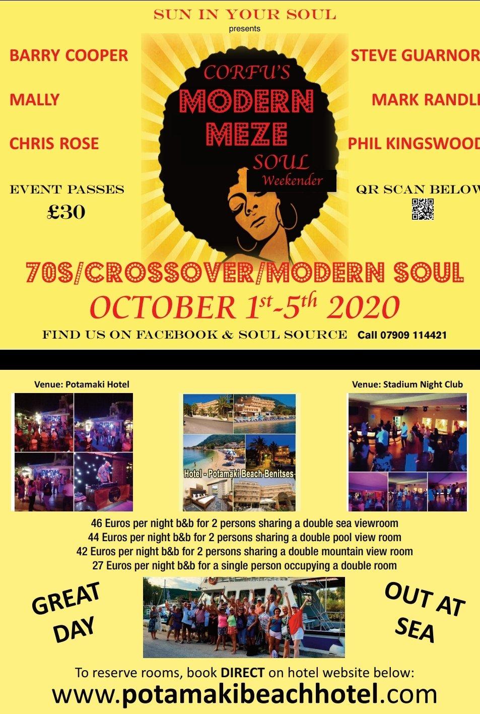 Corfus Modern Meze Weekender 2020 flyer