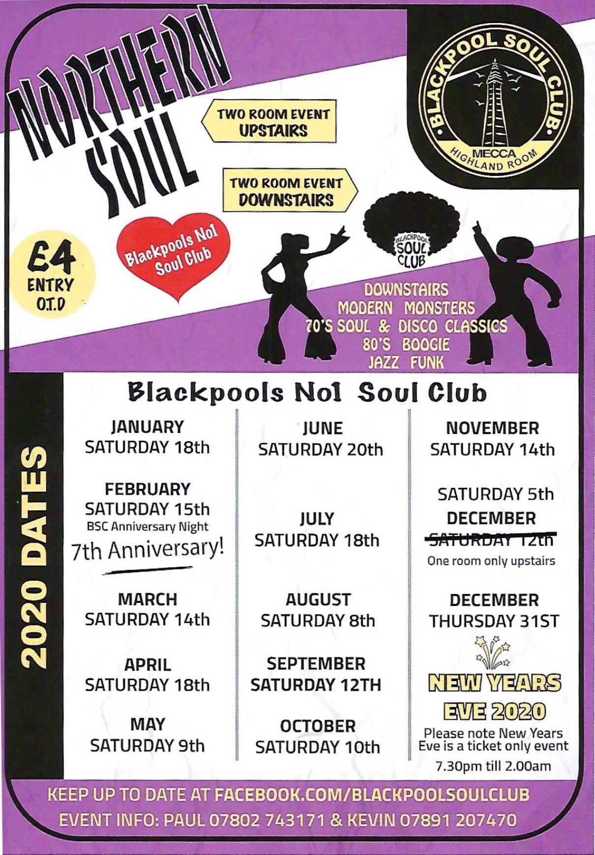 Blackpool Soul Club flyer