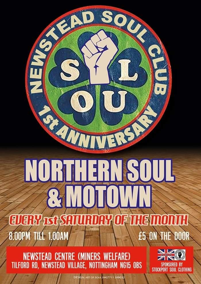 Newstead Soul Club 1st Anniversary flyer