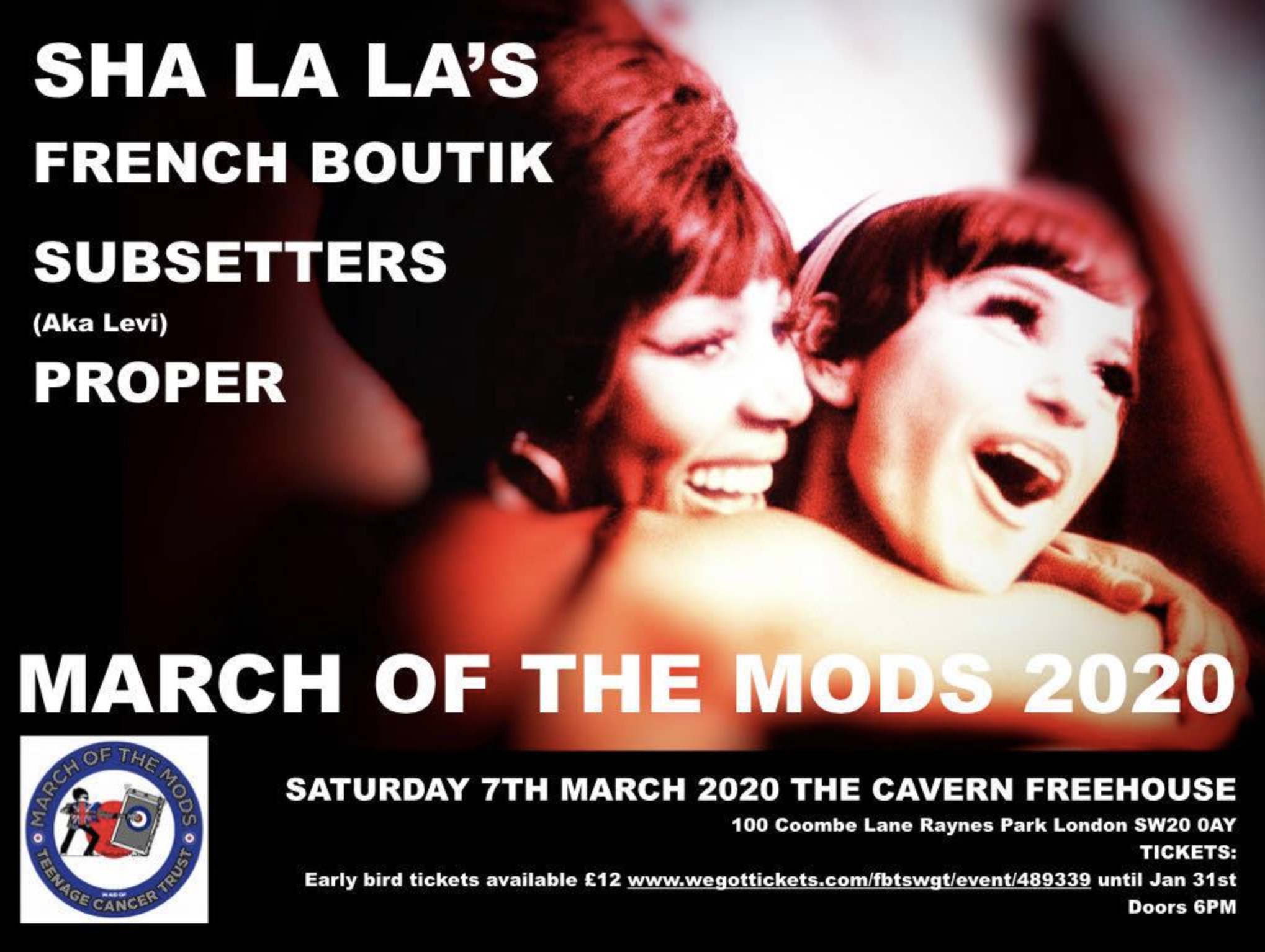 March Of The Mods South West London flyer