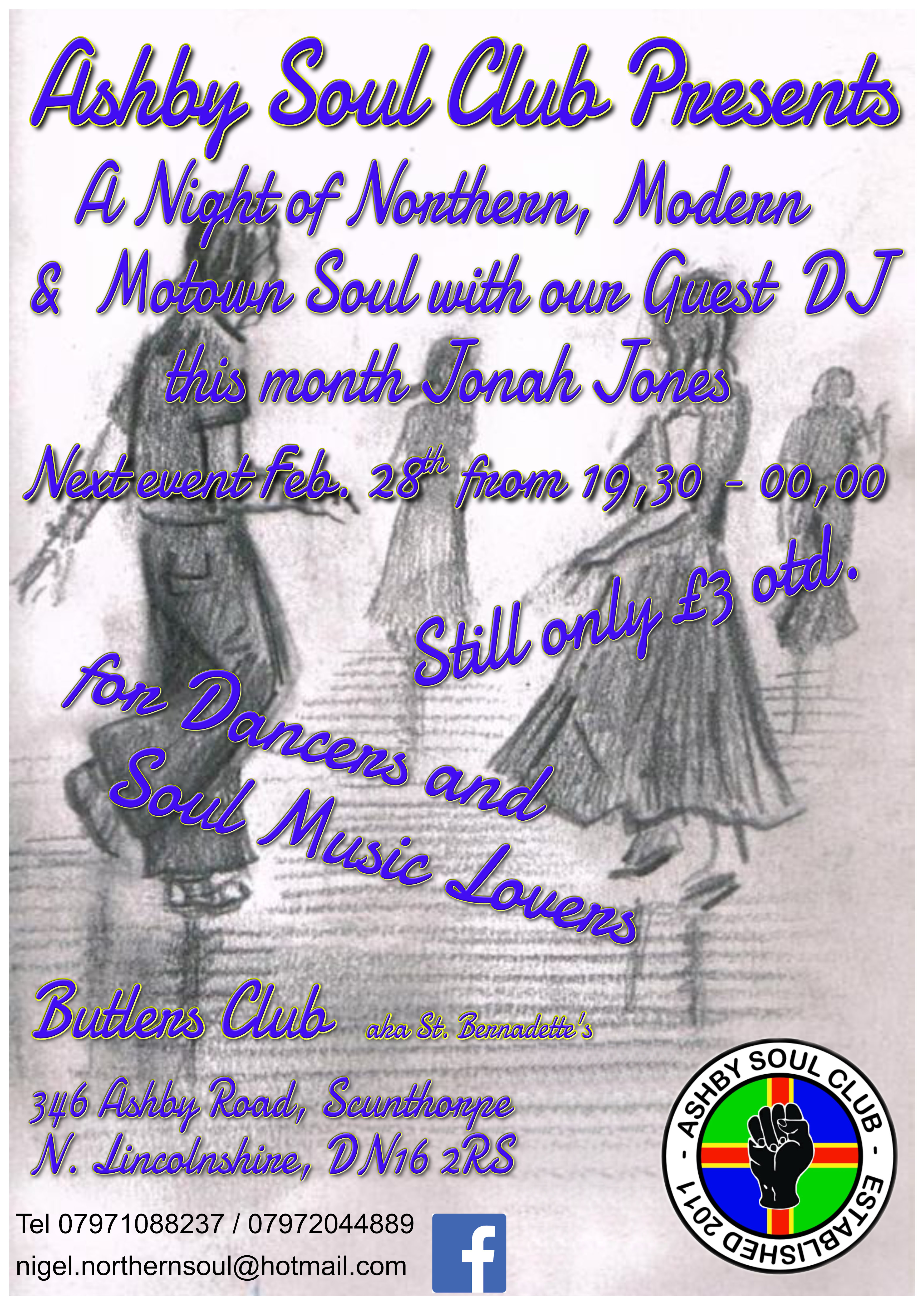 Scunthorpe Northern Motown Modern Soul Night flyer