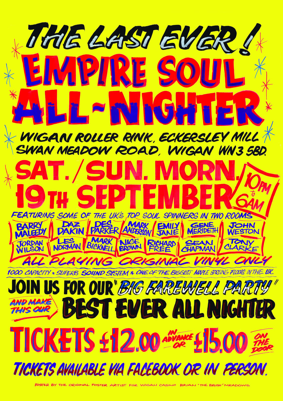 The Last Empire Soul Allnighter flyer