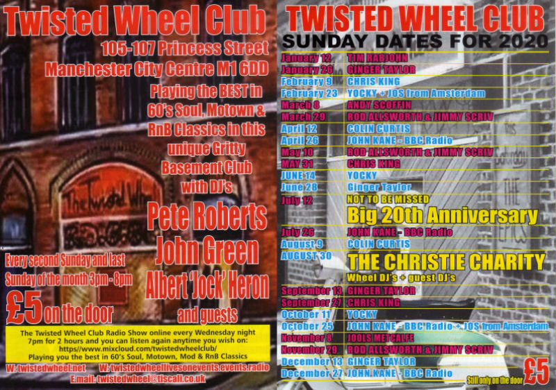 Twisted Wheel Live Artists flyer